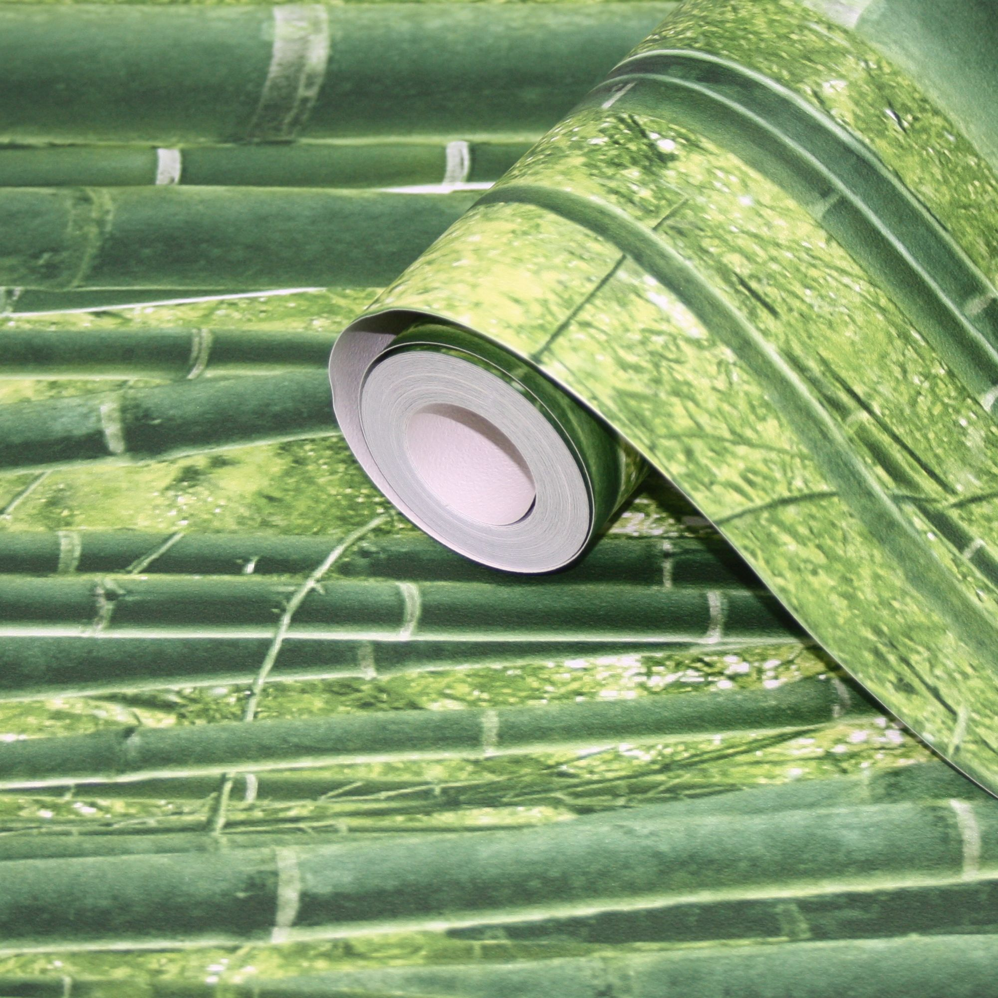 Lutece green bamboo jungle wallpaper departments diy B q bathroom design service