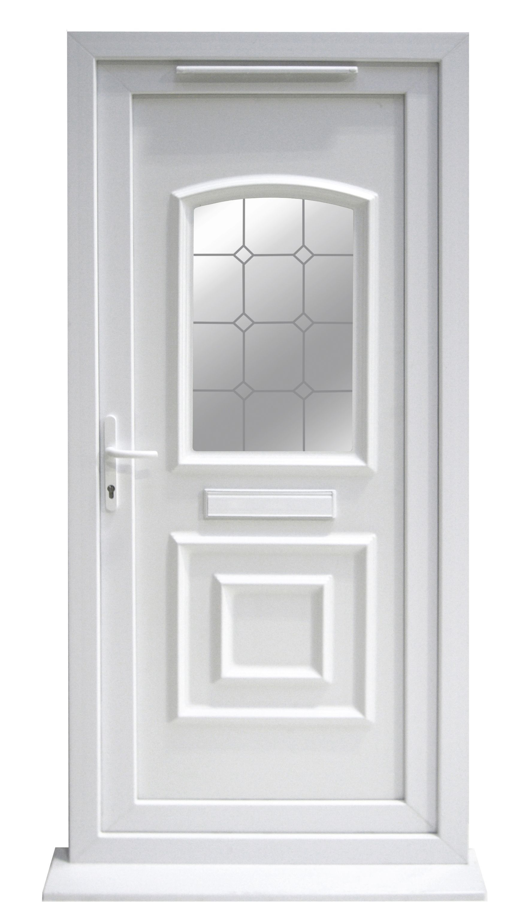 Ashgrove 2 Panel Pvcu White Glazed External Front Door Frame Rh H 2055mm W 920mm Departments Diy At B Q