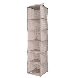 Compactor Home Rivoli Taupe Fabric Hanging Storage