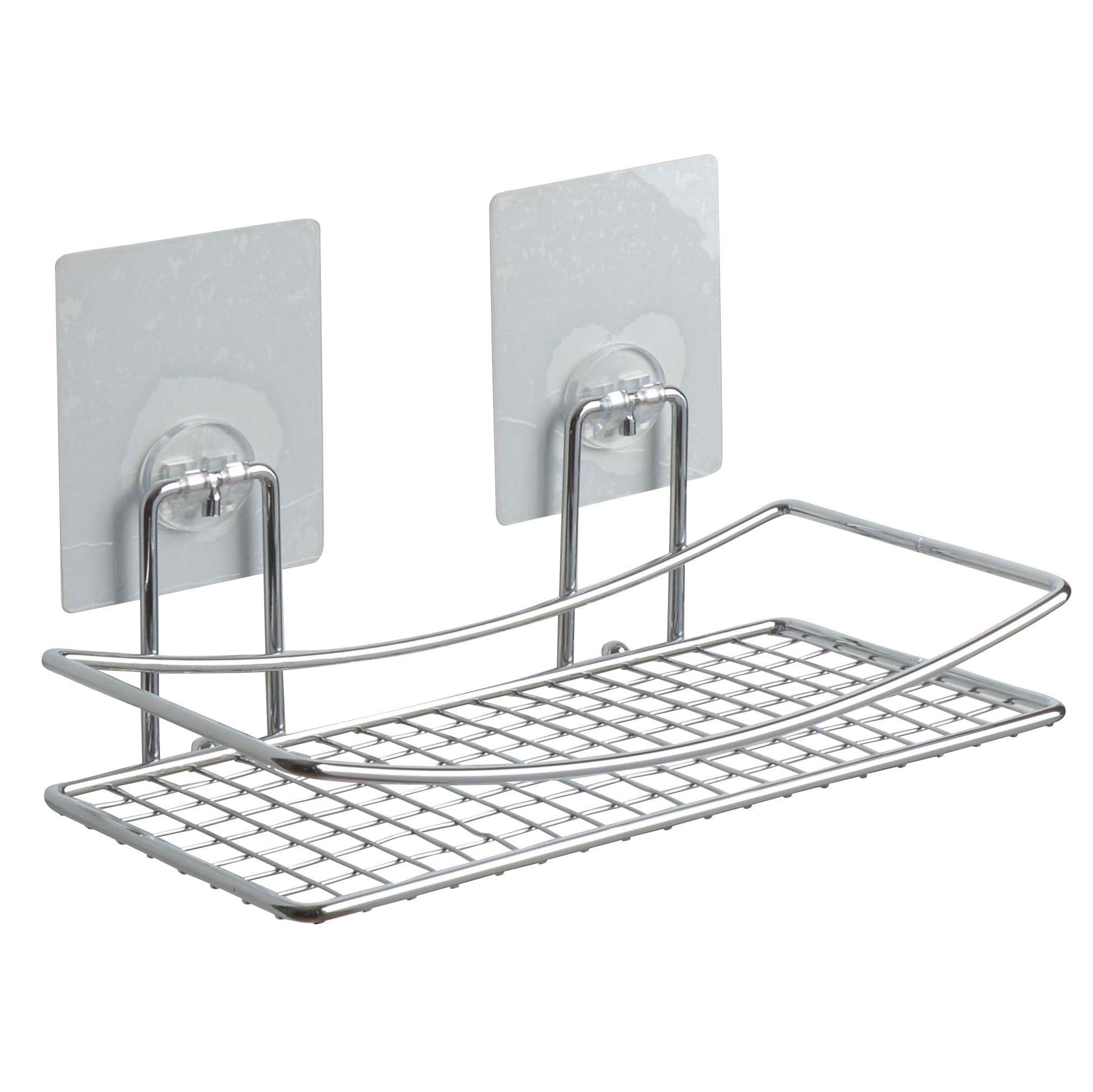 Magic Chrome Effect Bathroom Shelf (L)250mm | Departments | DIY at B&Q