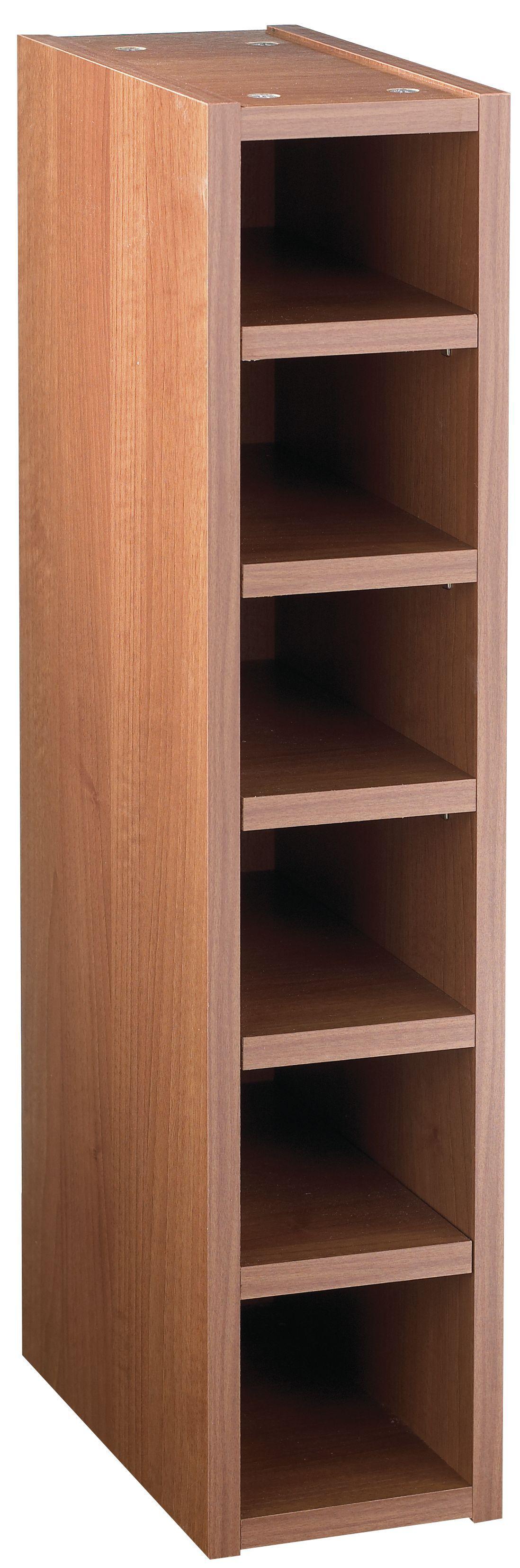 IT Kitchens Walnut Effect Wine Rack Cabinet W 150mm