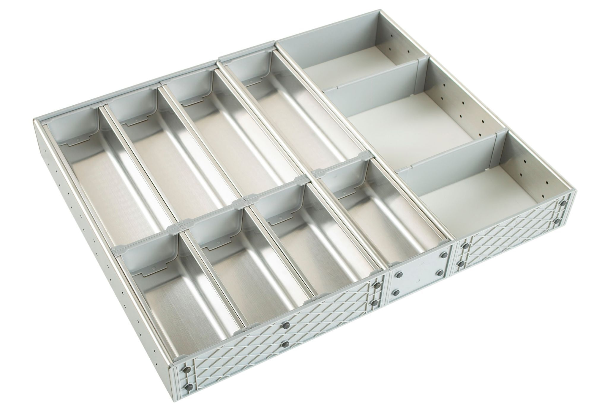 Cooke Lewis Stainless Steel Effect Kitchen Utensil Tray Departments Diy At B Q