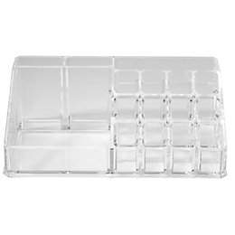 Cooke & Lewis Clear Large Makeup Organiser