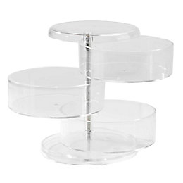 Cooke & Lewis Plastic Clear 3 Level Swivel