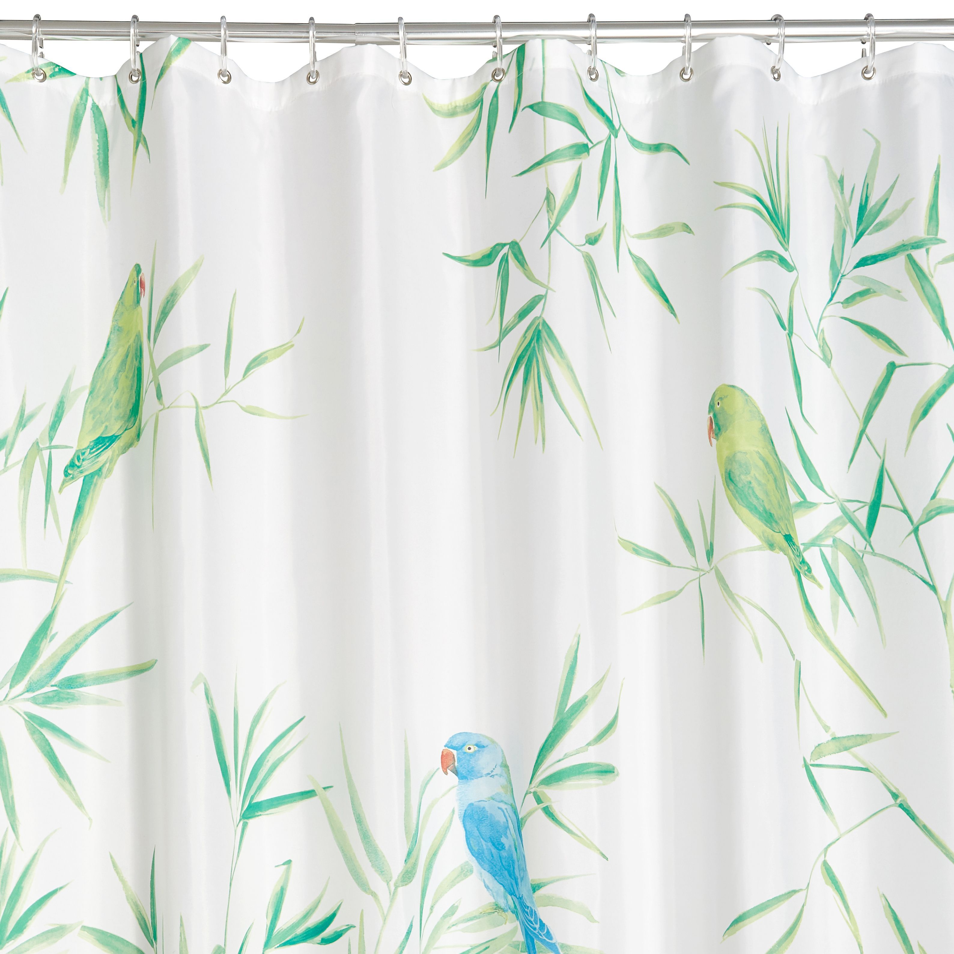 curtains color bird chirp home dp com kitchen lenox shower multi curtain amazon fine simply