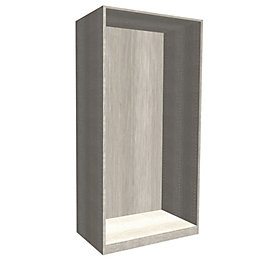 Form Darwin Grey Oak Effect Tall Wardrobe Cabinet