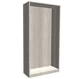 Darwin Modular Grey & Oak Effect Wardrobe Cabinet