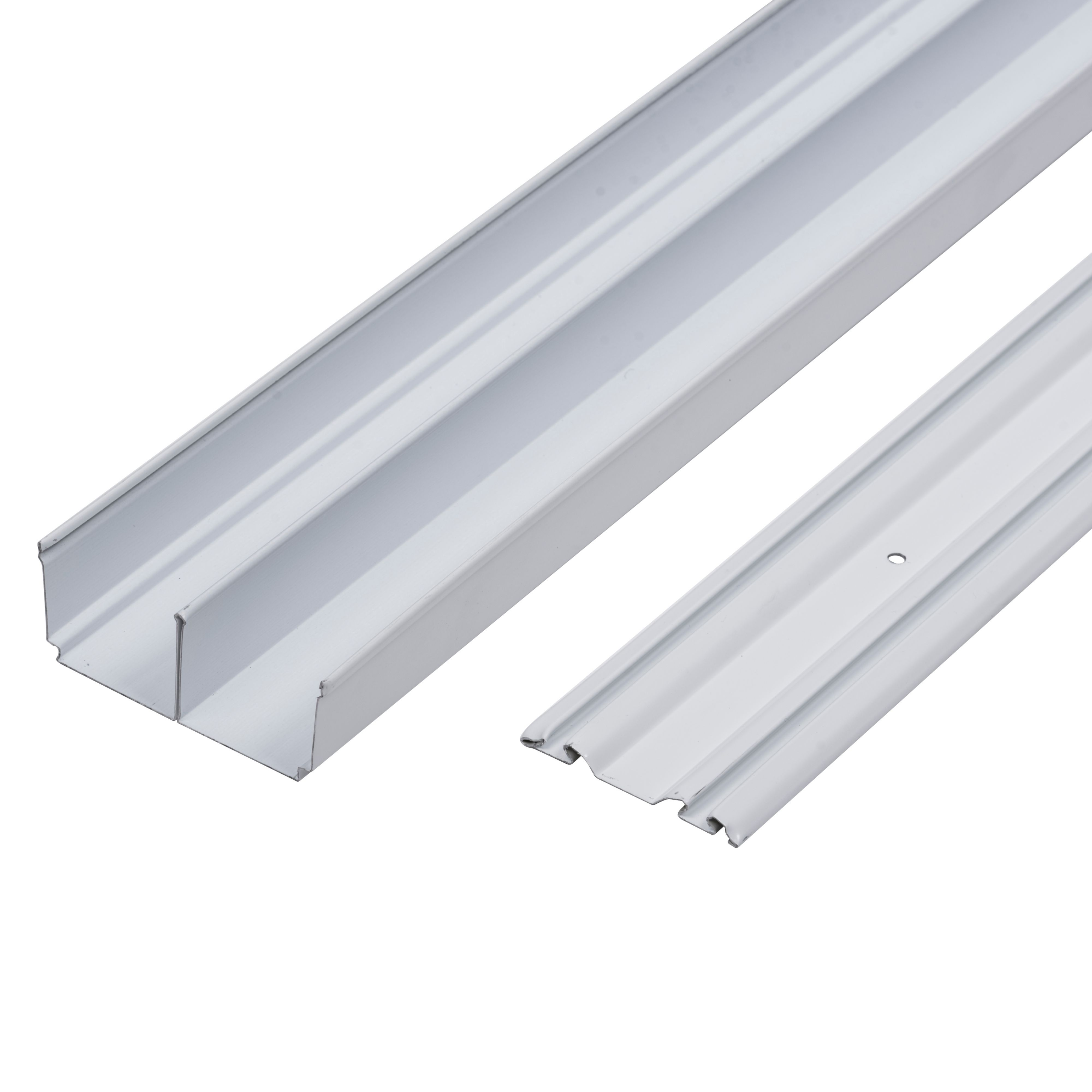 Valla White Sliding wardrobe door track (L)3600mm ...