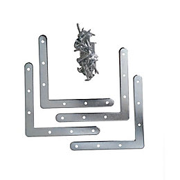 Form Perkin Grey Zamak alloy Reinforcement bracket