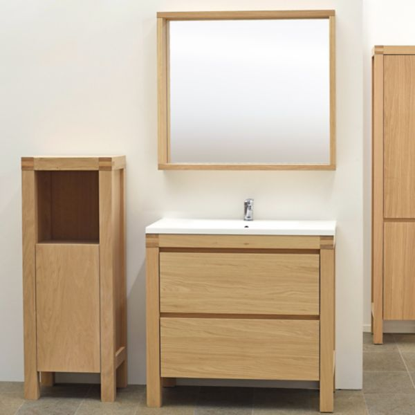 Bathroom furniture cabinets free standing furniture diy at b q Wooden bathroom furniture cabinets