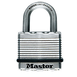 Master Lock Excell Steel 5-Pin Tumbler Octagonal Open