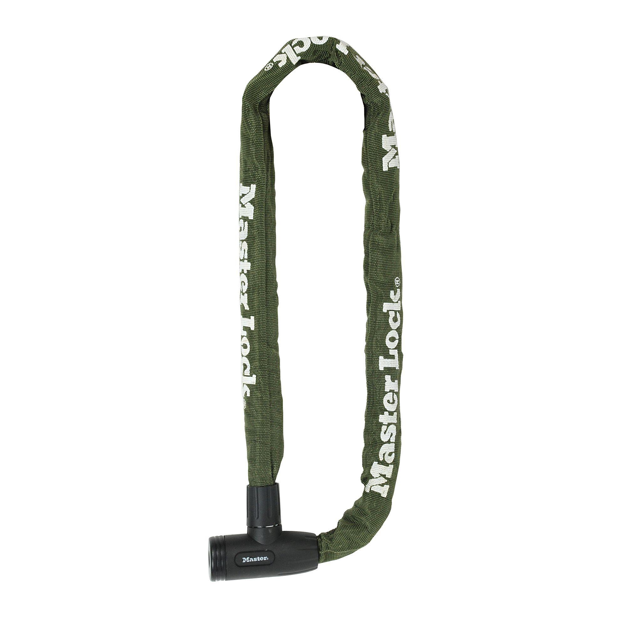 Master Lock Green Steel Chain lock 1m