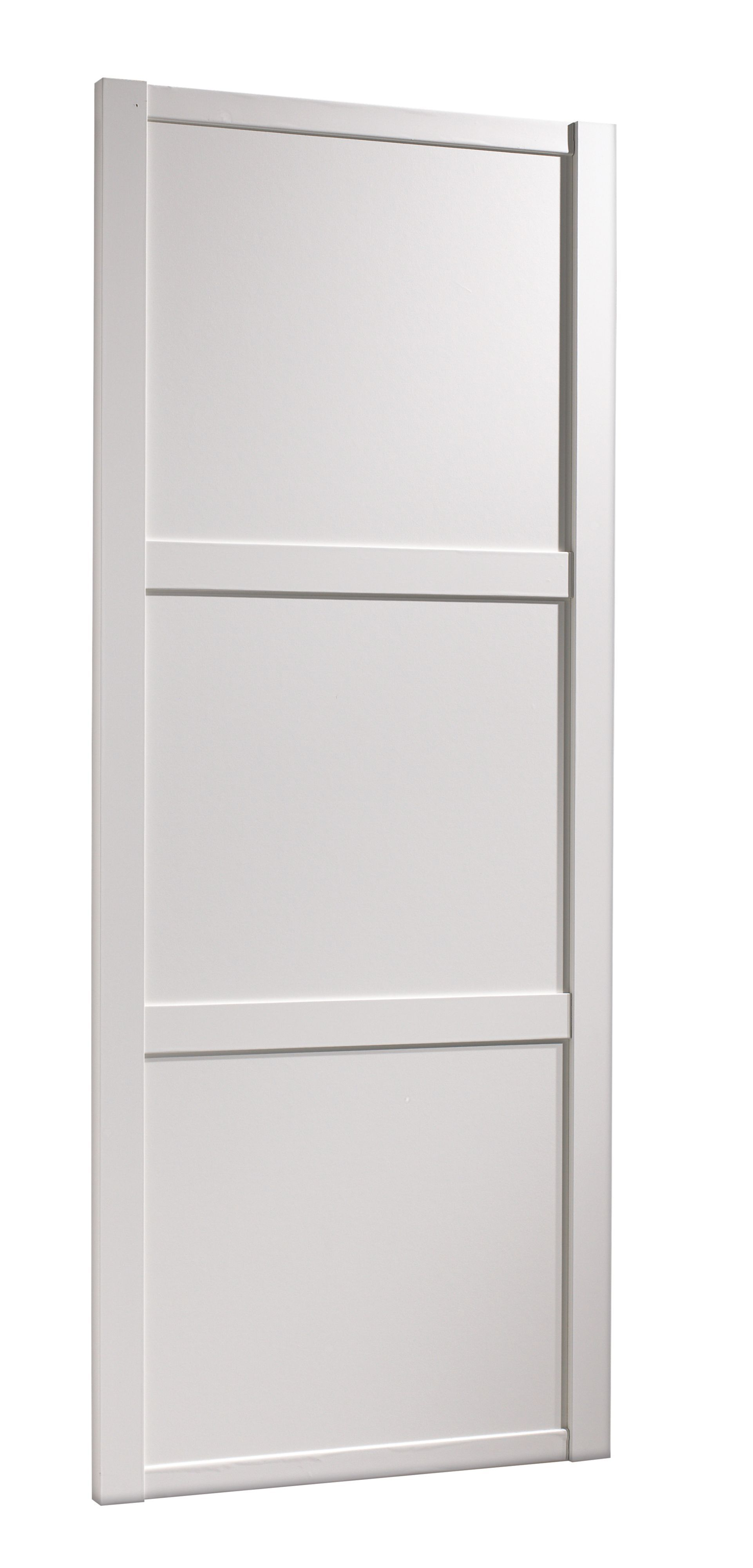 Traditional White Panel Effect Sliding Wardrobe Door H