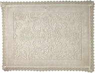 Marinette Saint-Tropez Platinum Beige Floral Cotton Bath mat (L)500mm (W)700mm