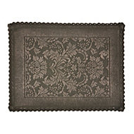 Marinette Saint-Tropez Platinum Gasoline Floral Cotton Bath mat (L)500mm (W)700mm