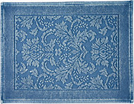 Marinette Saint-Tropez Platinum Light blue Floral Cotton Bath mat (L)500mm (W)700mm