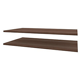 Darwin Modular Walnut Effect Internal Shelf Kit (L)1000mm