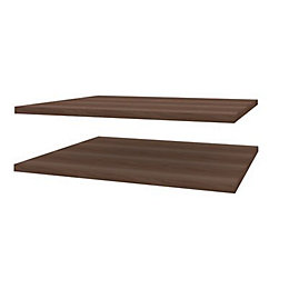 Darwin Modular Walnut Effect Shelves (W)500mm (D)566mm