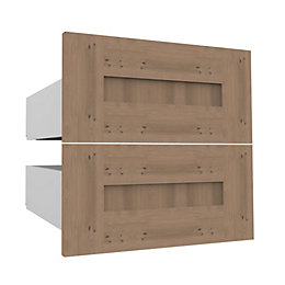 Darwin Modular Oak Effect External Drawers (H)237mm (W)500mm