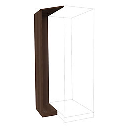 Darwin Modular Walnut Effect Corner Cabinet Kit (H)2004mm