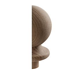Oak Half Ball Newel Cap (L)135mm (H)95mm (W)82mm