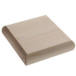 Pine Square Newel Cap (L)110mm (H)20mm (W)110mm