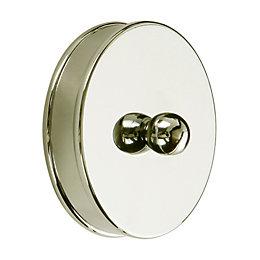 Metal Short handrail end cap (L)15mm (H)25mm (W)60mm