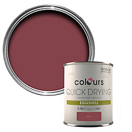 Colours Quick Dry Merlot Eggshell Wood & Metal