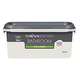 Colours Bathroom Mussel Soft Sheen Emulsion Paint 2.5L