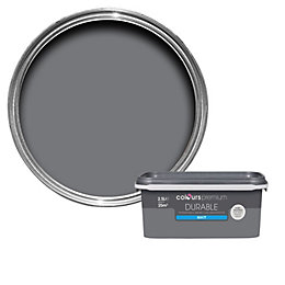 Colours Durable Grey slate Matt Emulsion paint 2.5