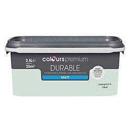 Colours Durable Hamptons blue Matt Emulsion paint 2.5L
