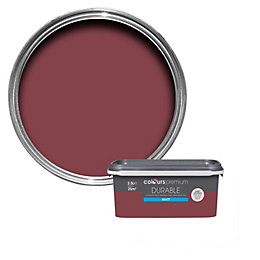Colours Durable Merlot Matt Emulsion paint 2.5 L