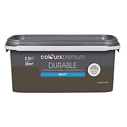 Colours Durable Dark horse Matt Emulsion paint 2.5L