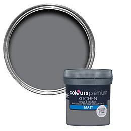 Colours Kitchen Grey Slate Matt Emulsion Paint 0.05L