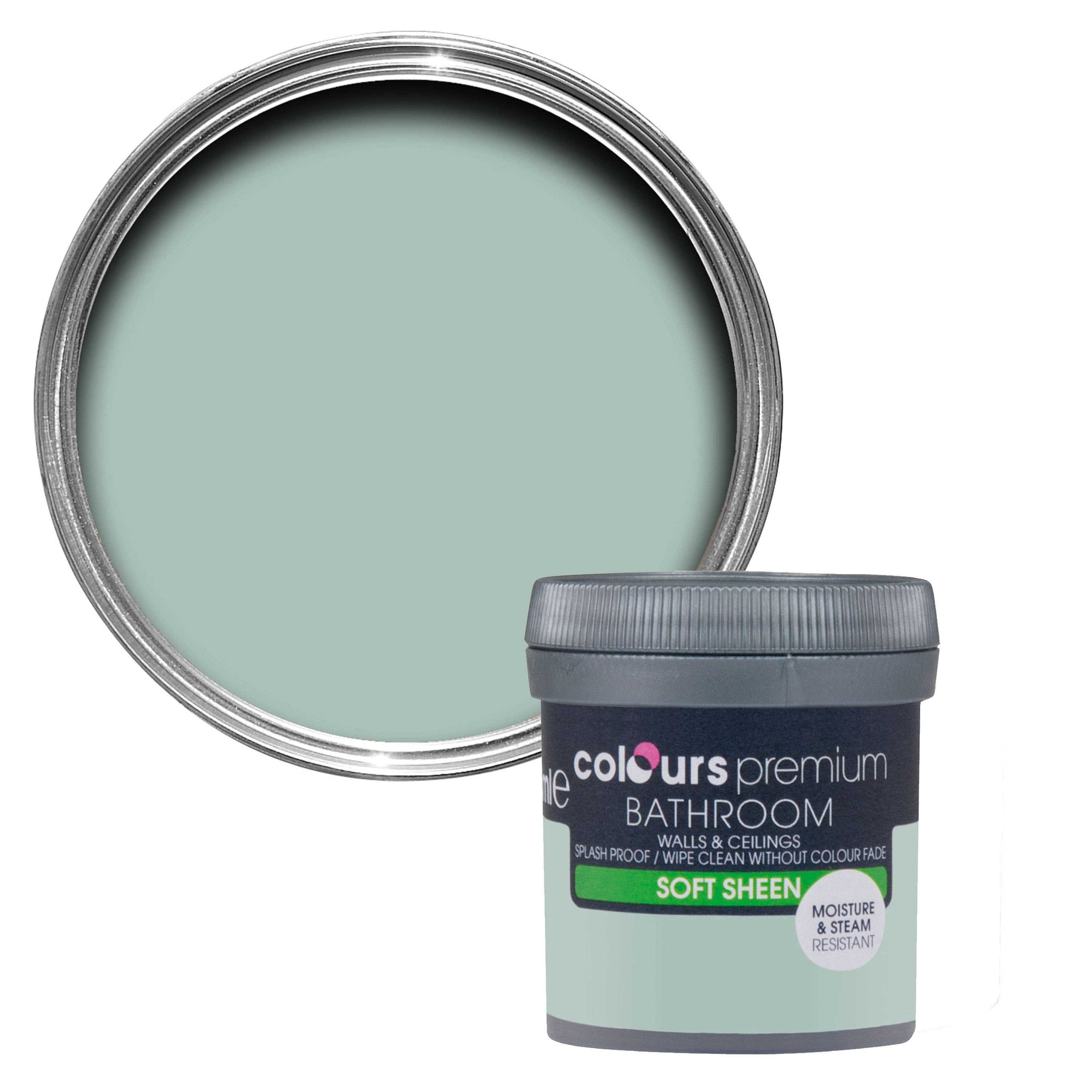 Colours Bathroom Eau De Nil Soft Sheen Emulsion Paint 0.05L Tester ...