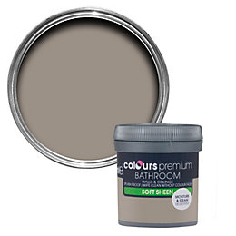 Colours Bathroom Taupe Soft sheen Emulsion paint 0.05