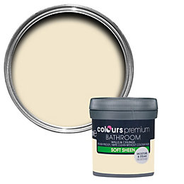 Colours Bathroom Magnolia Soft sheen Emulsion paint 0.05L