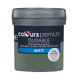 Colours Durable Tank Green Matt Emulsion Paint 0.05L