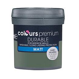 Colours Durable Tank Green Matt Emulsion Paint 0.05L