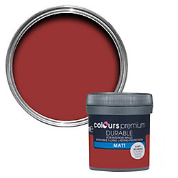 Colours Durable Classic red Matt Emulsion paint 0.05