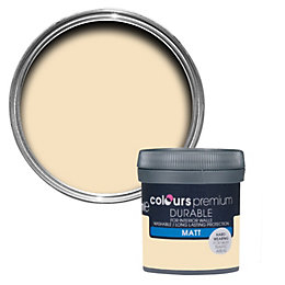 Colours Durable Custard cream Matt Emulsion paint 0.05L