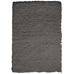Colours Ava Dark Grey Rug (L)1.6m (W)1.2m