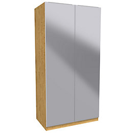 Darwin Handpicked Oak Effect & Mirror Double Wardrobe