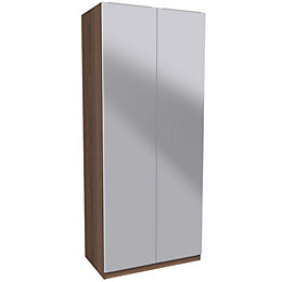 Darwin Handpicked Walnut Effect & Mirror Double Wardrobe