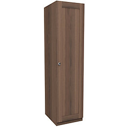 Darwin Walnut Effect 1 Door Wardrobe (H)2004mm (W)500mm
