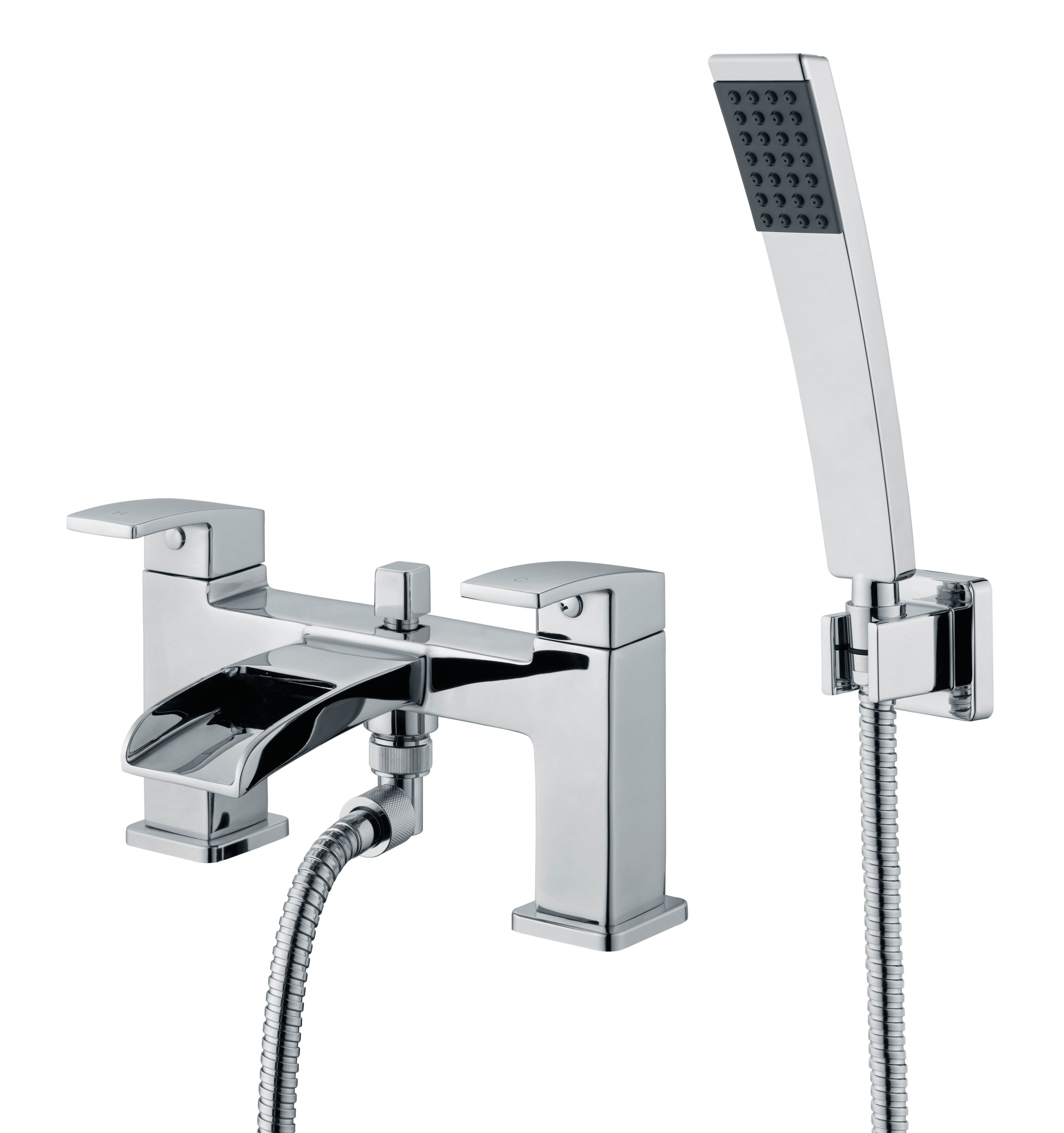 Cooke & Lewis Havasu waterfall Chrome Bath shower mixer ...