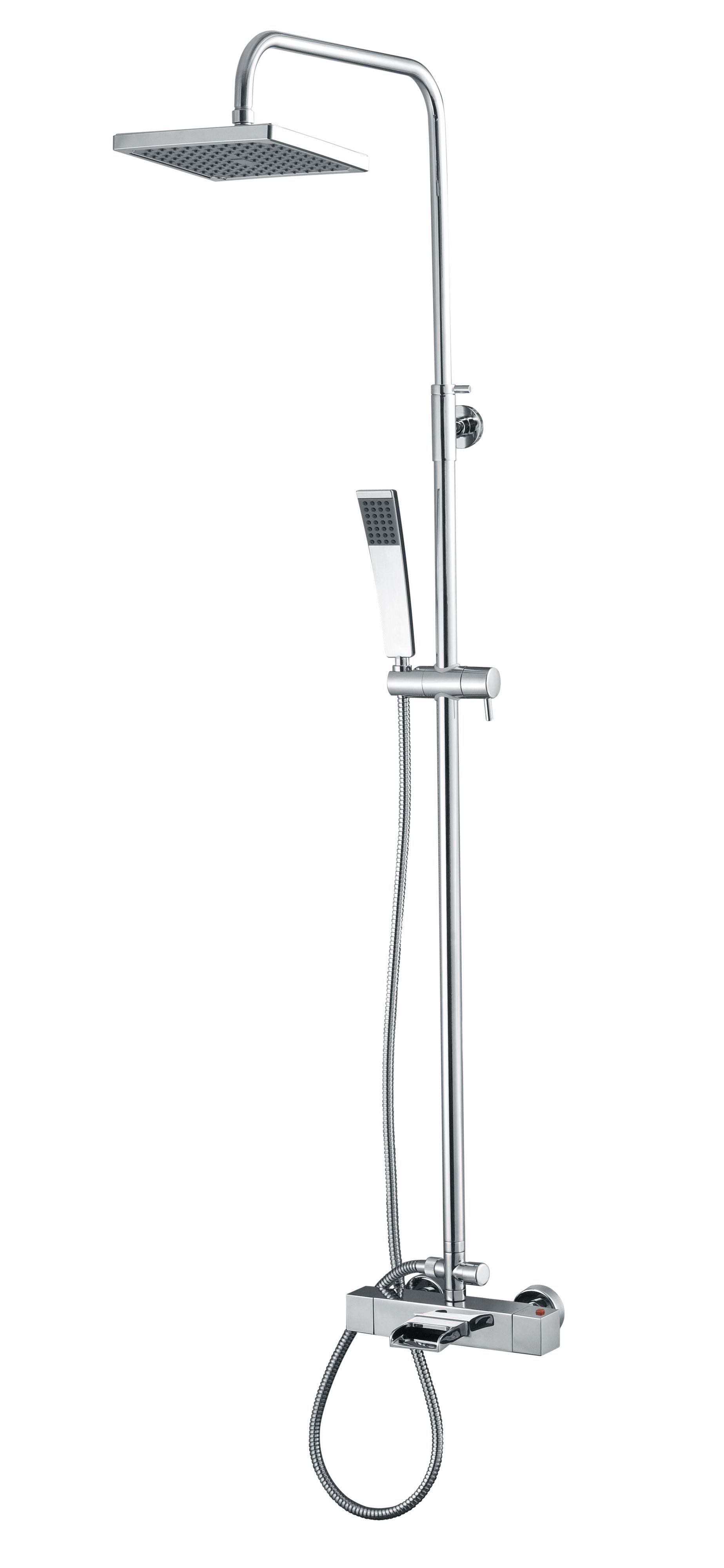 Cooke & Lewis Havasu Chrome Thermostatic Bath Filler Mixer Shower ...