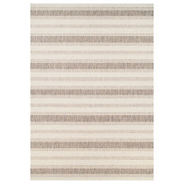 Colours Ariana Cream Striped Rug (L)2.3m (W)1.6 m