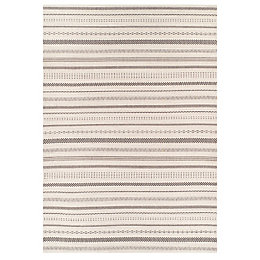 Colours Cece Black & cream Striped Rug (L)2.3m