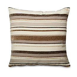 Sedum Stripe Beige, brown & cream Cushion